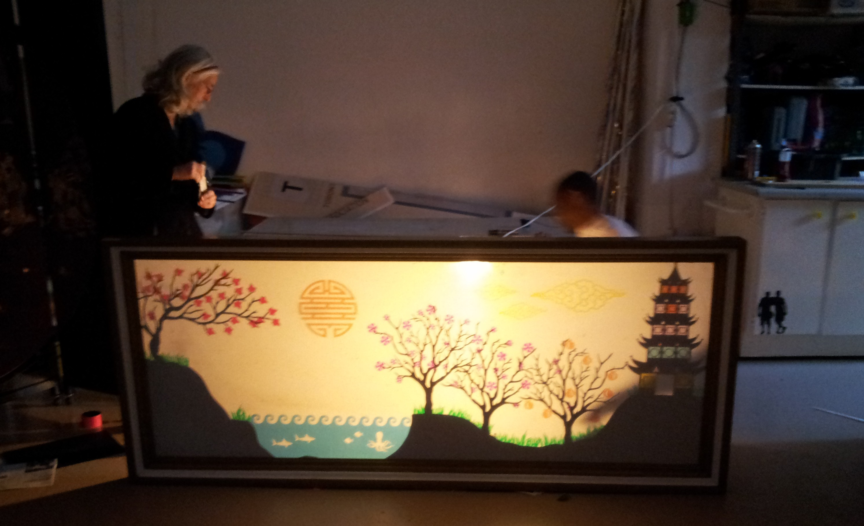 Chinese Shadow Theatre Screen Cutting Machine Artist