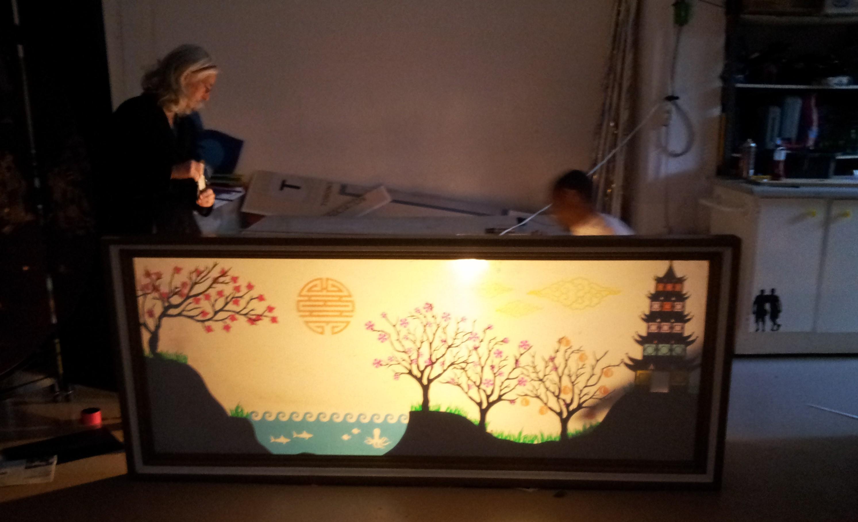 Chinese Shadow Theatre Screen Cutting Machine Artist